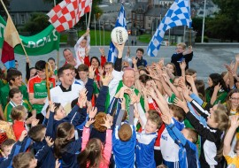 St. Patrick's Cathedral, Armagh becomes a blaze of colour celebrating The Family of Sports!